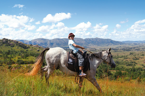 Take a jaunt along the Klipspringer Trail on horseback. Photo by Stephen Cunliffe.