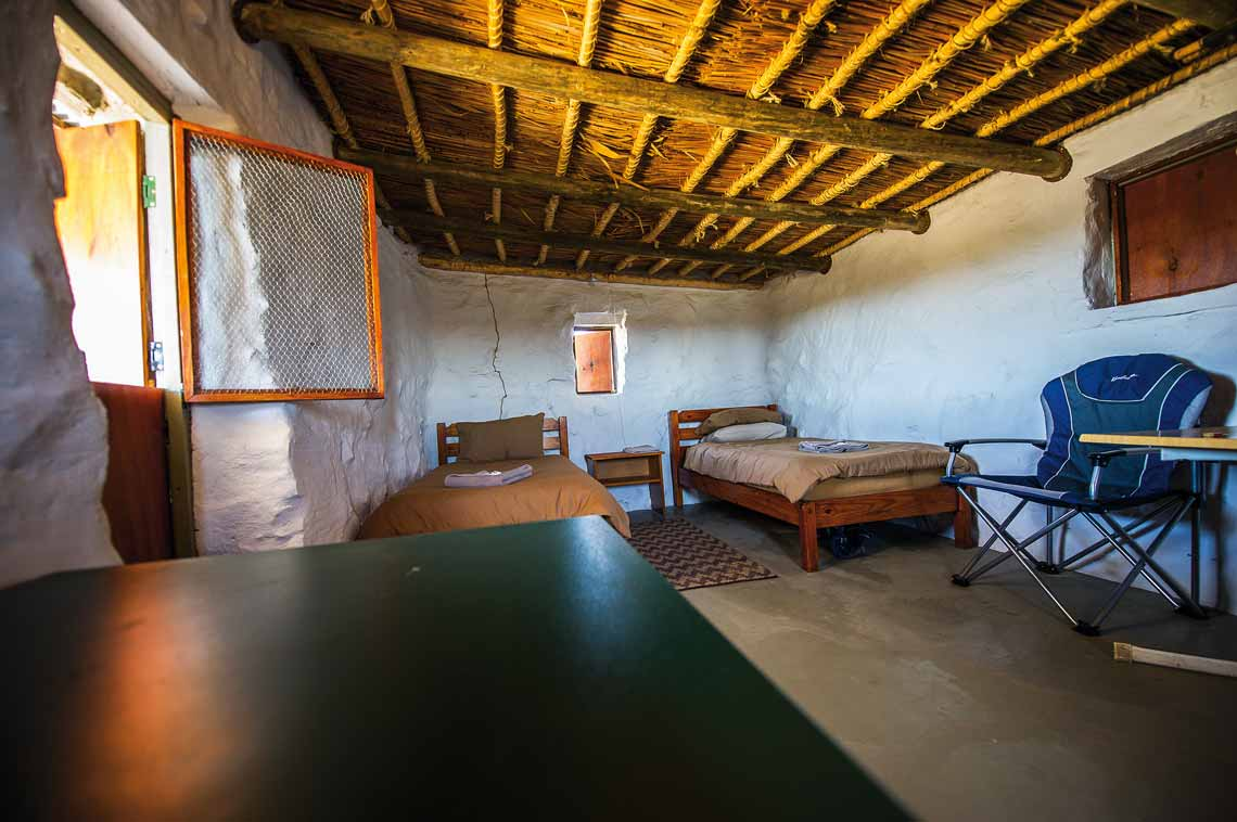 Interior of Afsaal cottage in Karoo National Park. Photo by Johan and Bridgena Barnard.