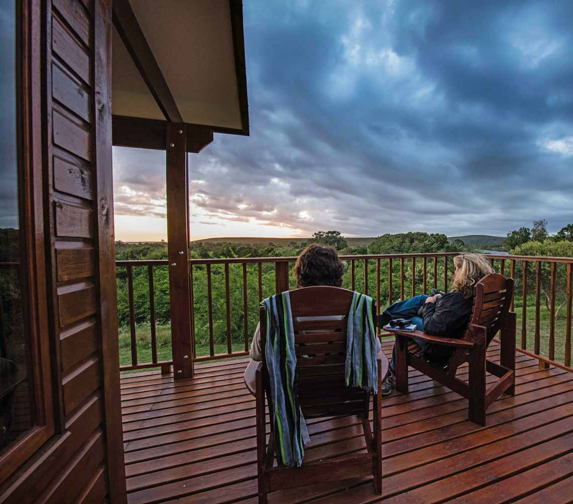 Kick your feet up with family and enjoy the sunset. Photo by Bridgena Barnard.