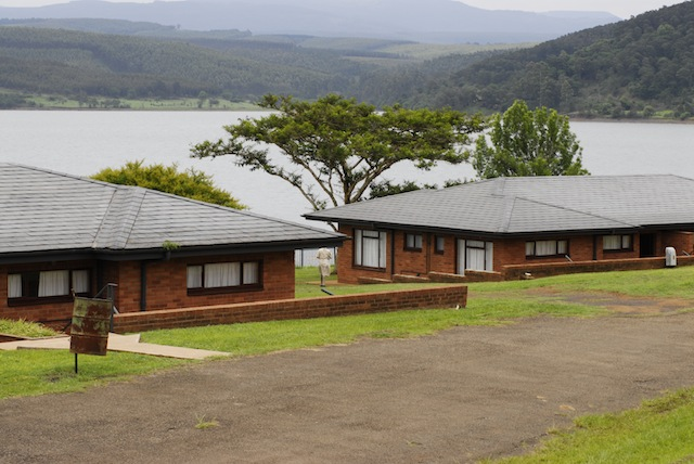 The chalets at Bon Accorde overlook Albert Falls Dam. Picture by Kate Collins
