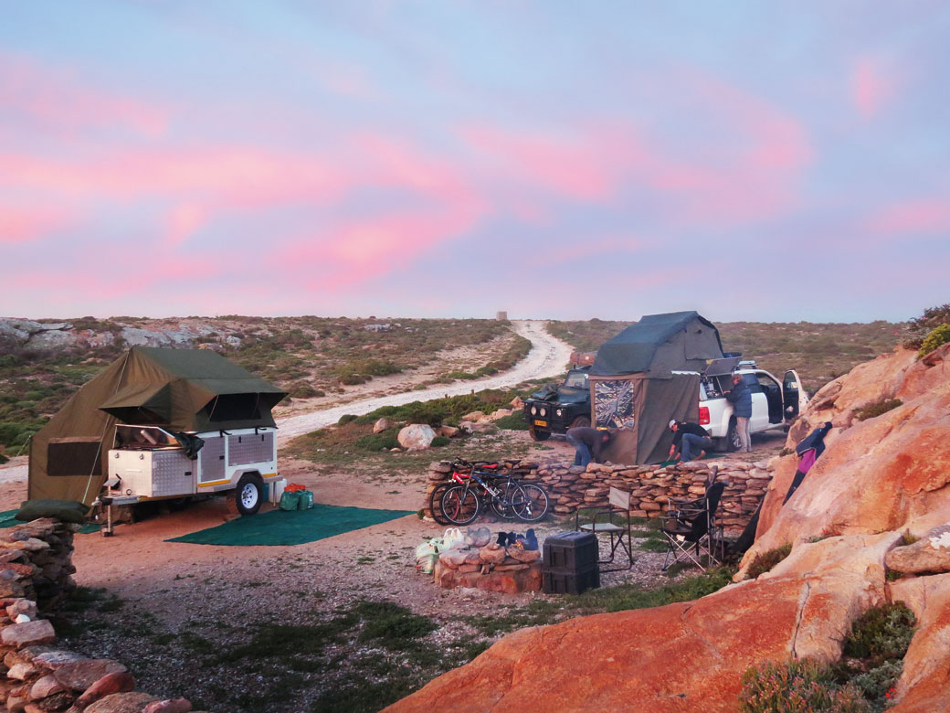 Camping along the Namaqua coast. Picture by Nils Backeberg